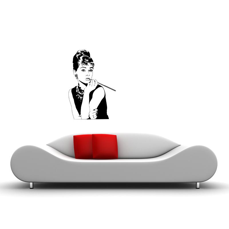 Adesivi Murali Audrey Hepburn.Adesivi Crea Adesivi Murali Adesivi Murali Audrey Hepburn